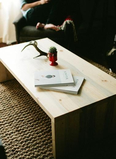 Çam Kahve Sehpası-Oldwooddesign